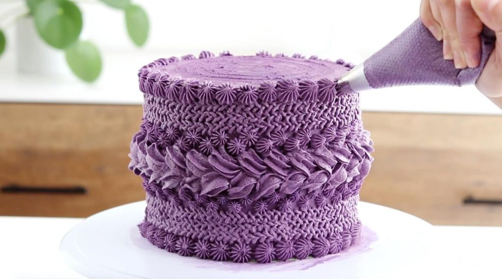 knitted buttercream piping techniques