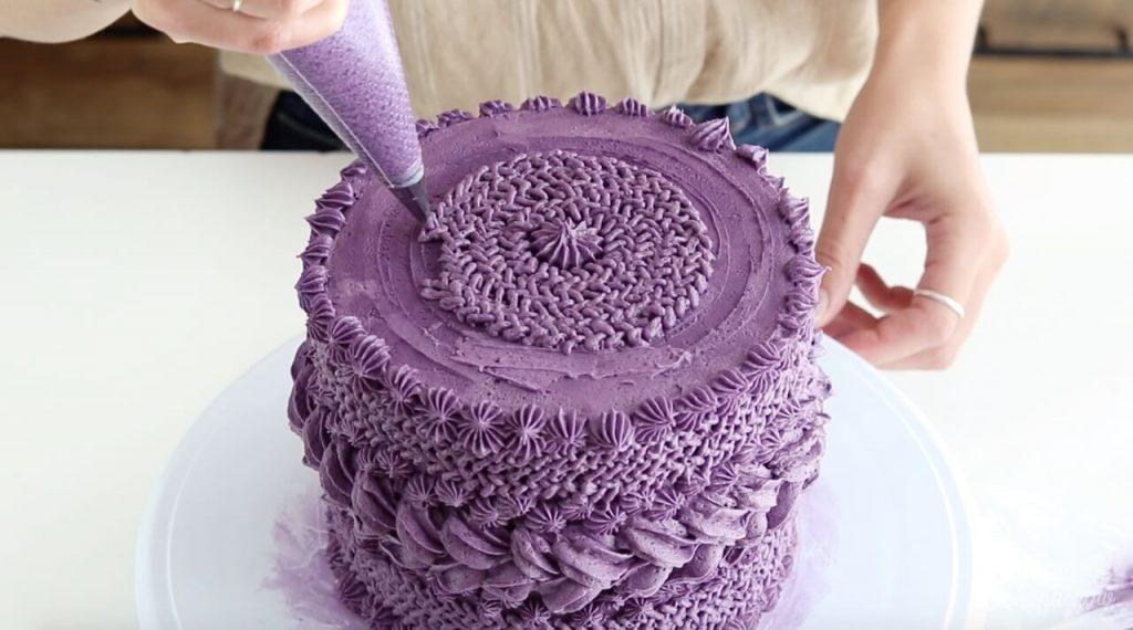 how to make buttercream look like yarn