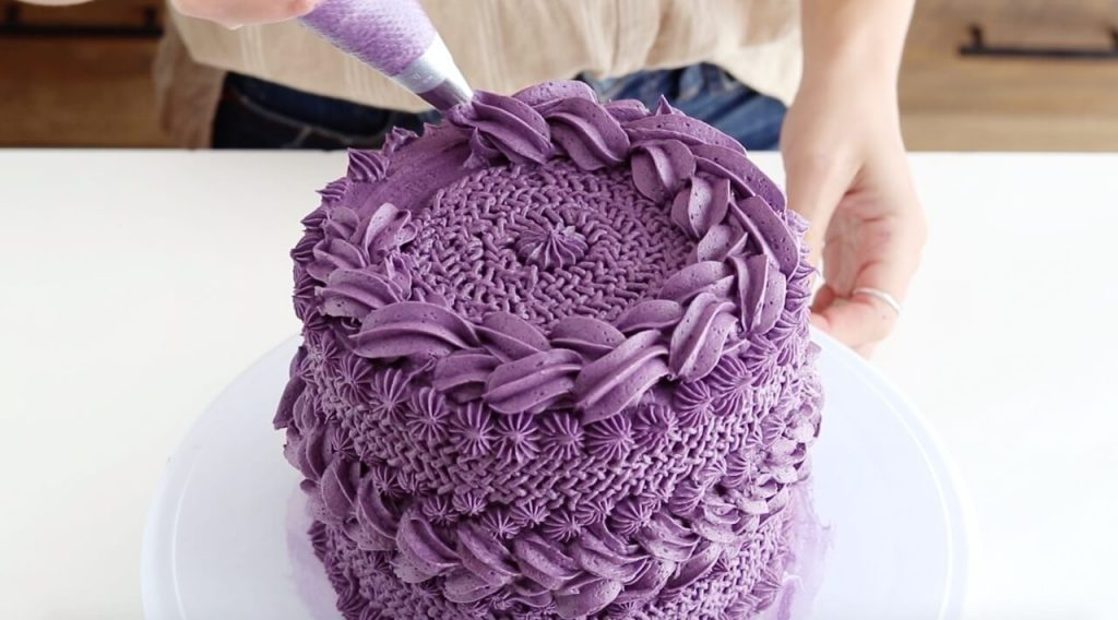 how to make a cable knit buttercream cake