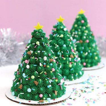 mini christmas tree cake tutorial