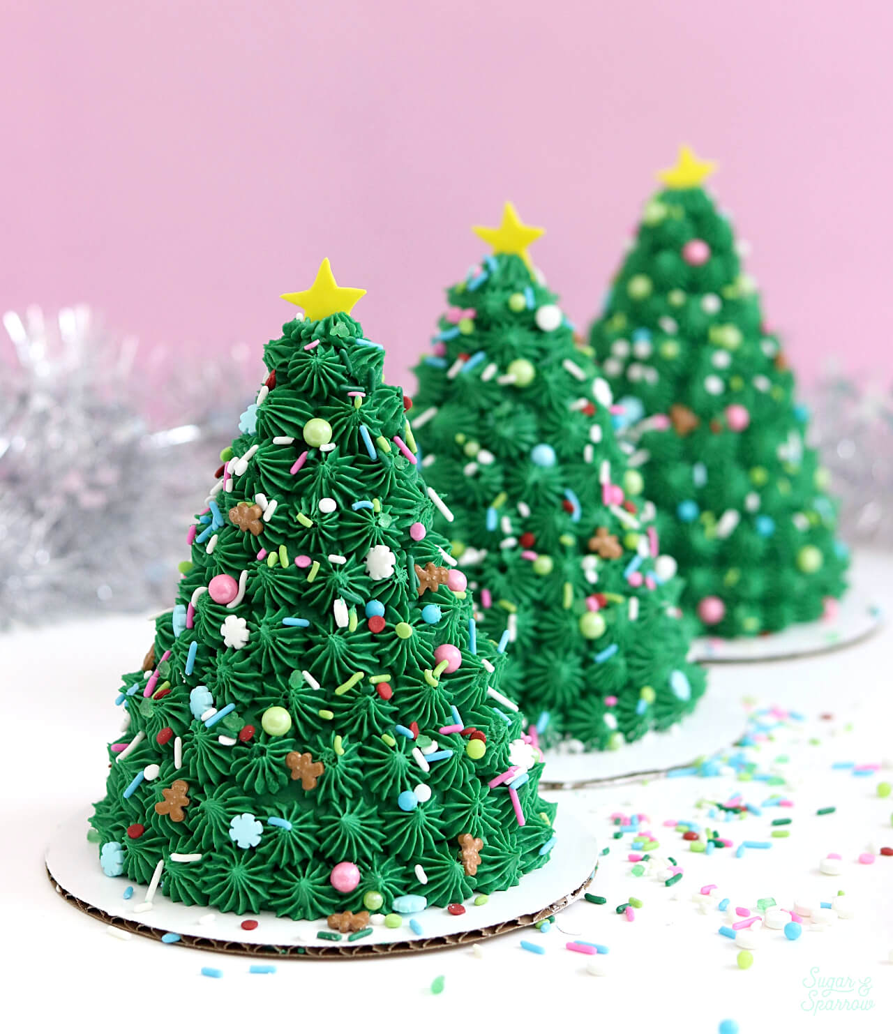mini christmas tree cake tutorial