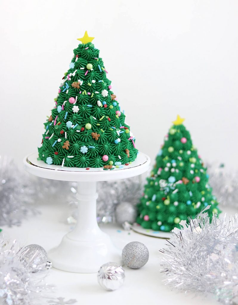 christmas party cake tutorial