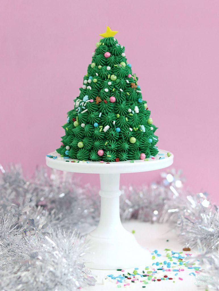 christmas tree party cake tutorial