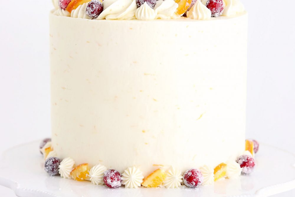 Cranberry Orange Cake Recipe by Sugar & Sparrow