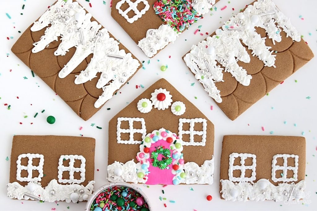 how to decorate gingerbread house with sprinkles