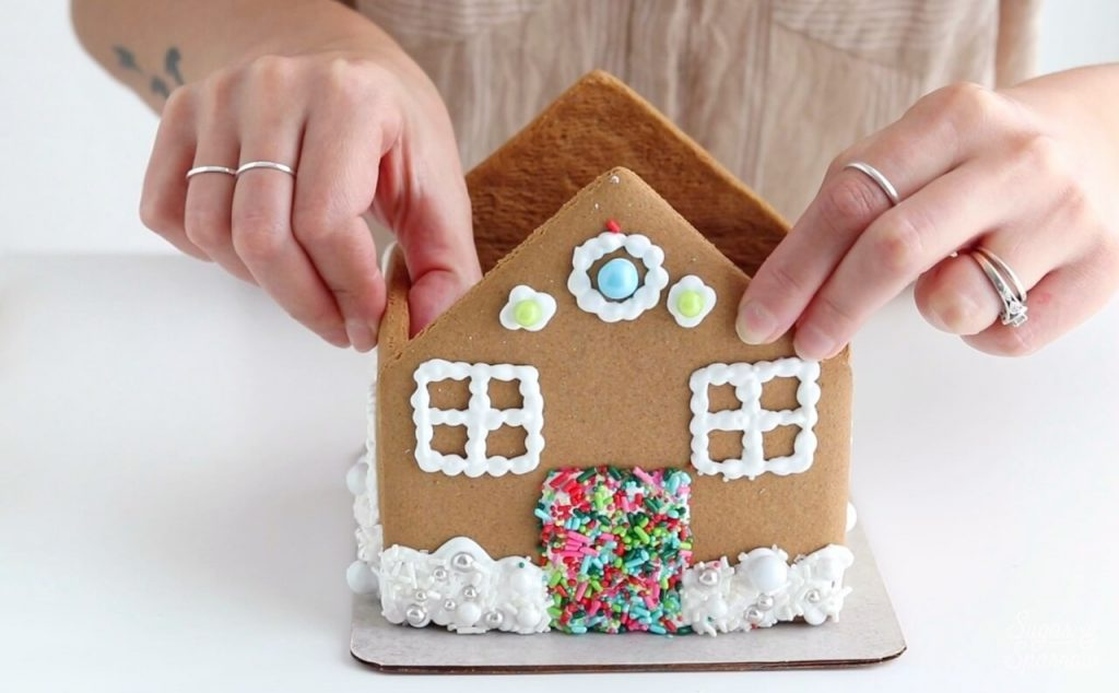 base of gingerbread house