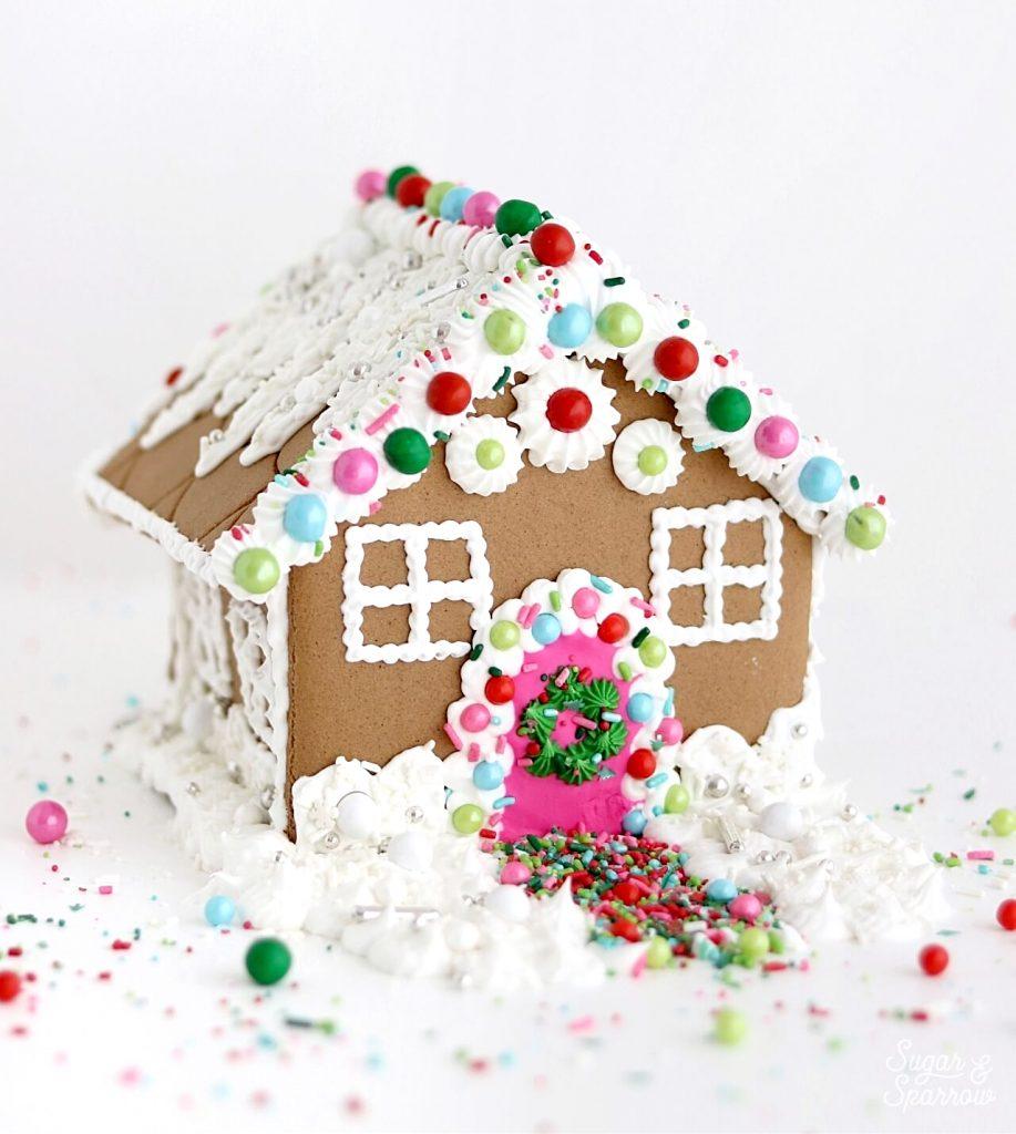 sprinklepop gingerbread house tutorial