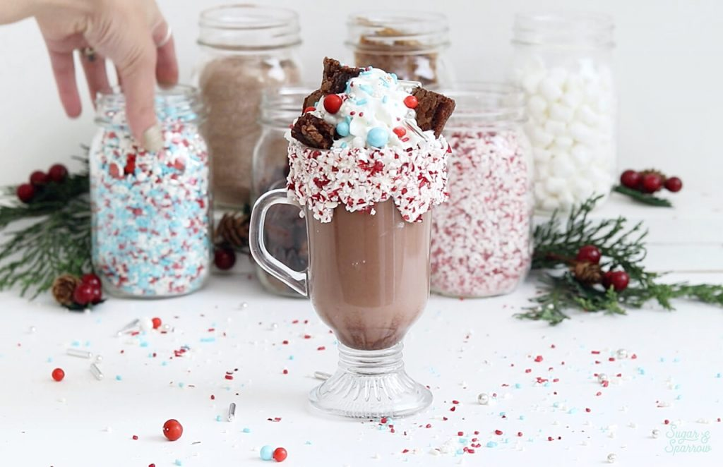 sprinkle hot cocoa