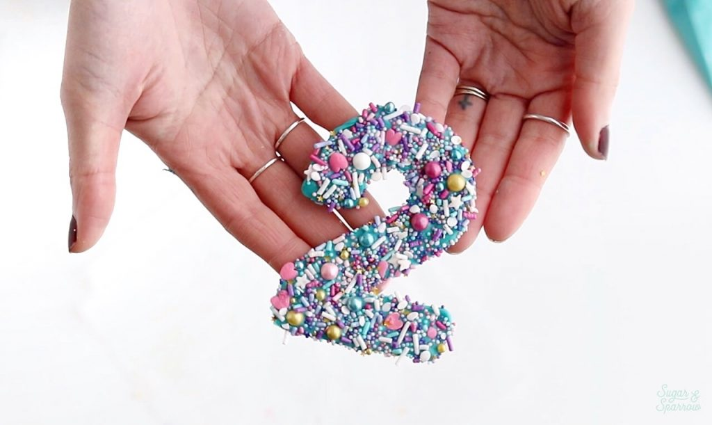 how to make diy cake topper numbers