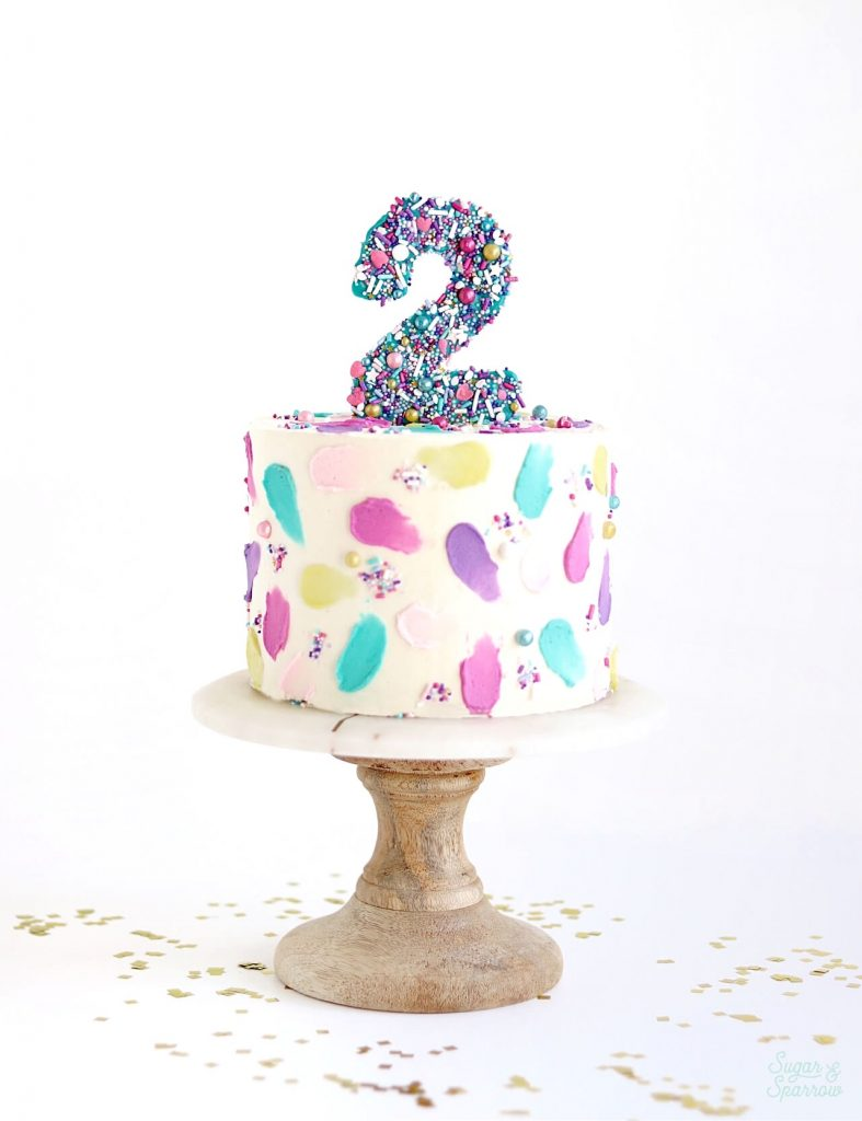 sprinkled number cake toppers tutorial