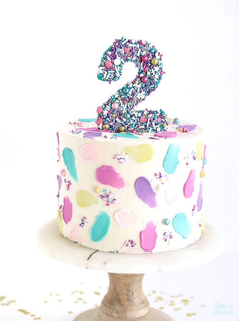 edible number cake topper tutorial