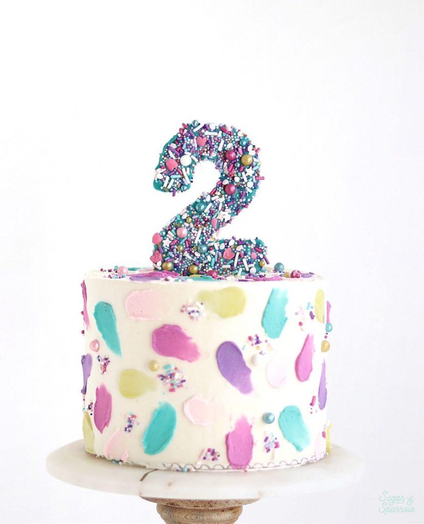 number cake topper for birthday cake