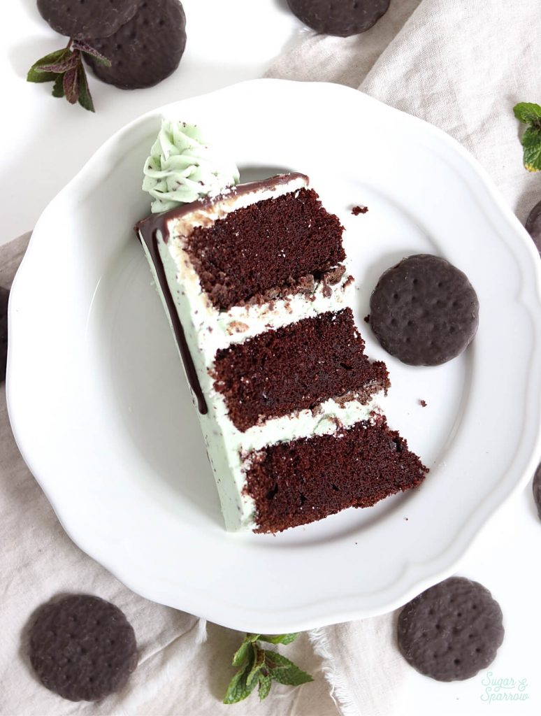Mint chocolate cake recipe from scratch with mint chocolate buttercream