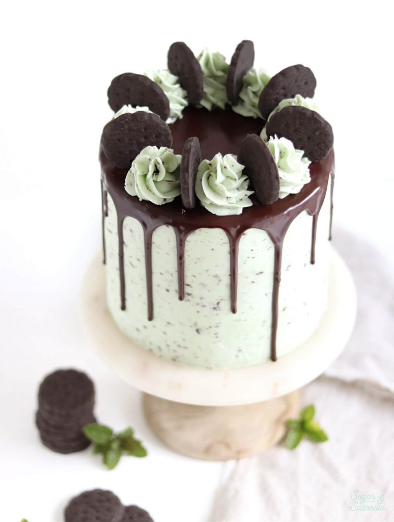 Mint Chocolate Cake Recipe with Mint Chocolate Buttercream