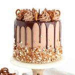 Pretzel Nutella Cake Recipe by Sugar and Sparrow