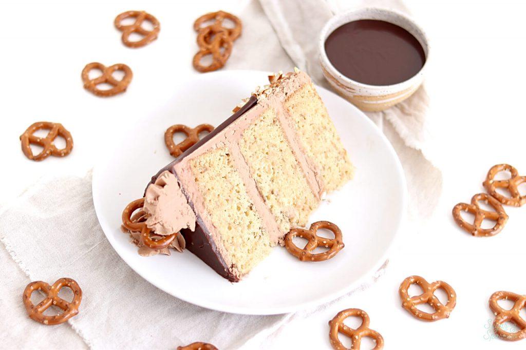 pretzel nutella layer cake recipe