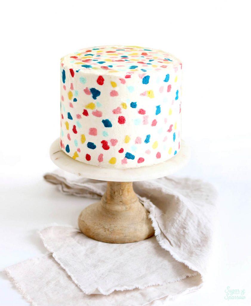 how to make a terrazzo cake