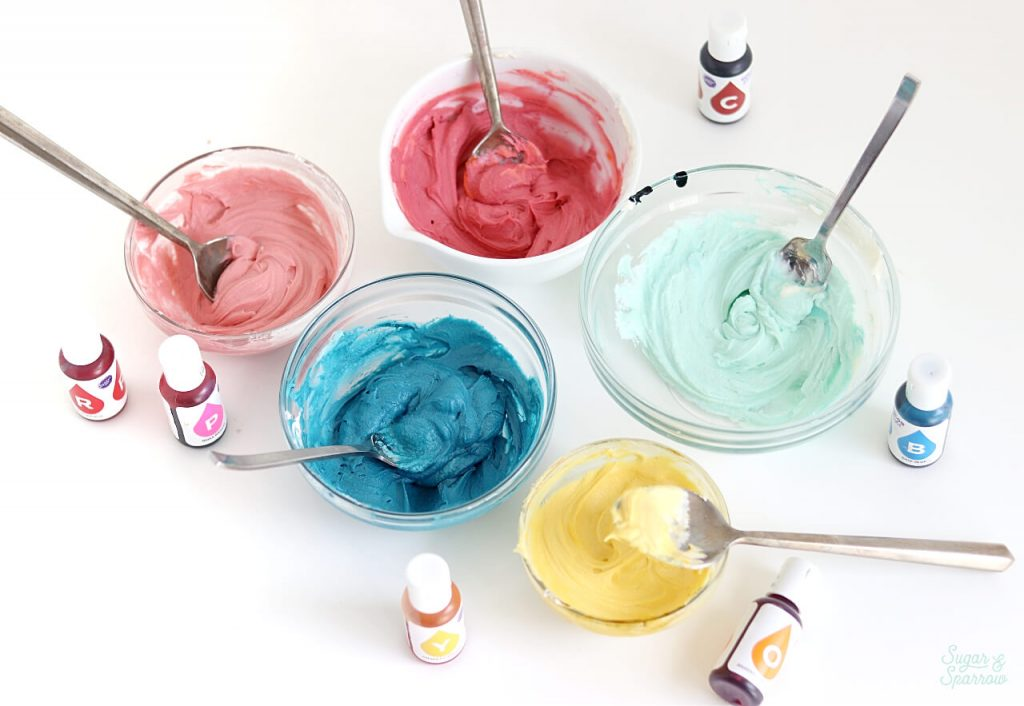 wilton color right system with buttercream