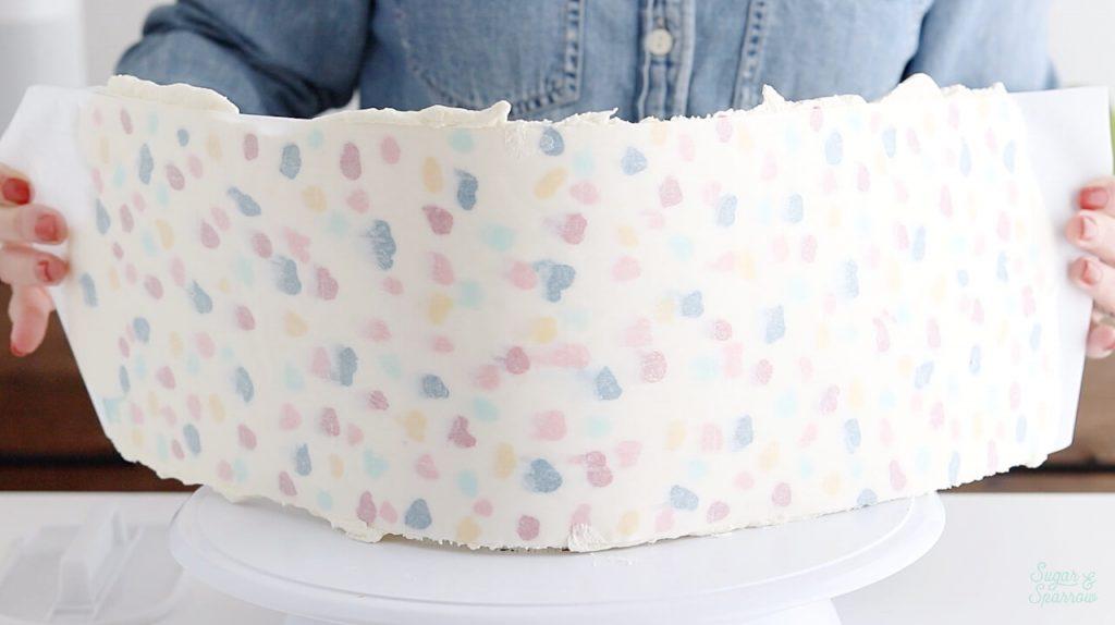 terrazzo buttercream wrap tutorial
