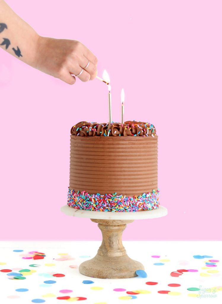 yellow cake with chocolate buttercream birthday cake recipe