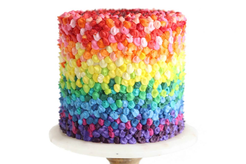 #cakesforsmallbiz Rainbow Cake by Sugar and Sparrow