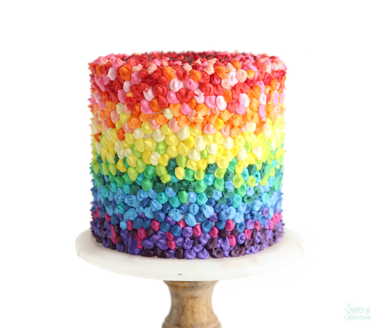 #cakesforsmallbiz Rainbow Cake by Sugar and Sparrow