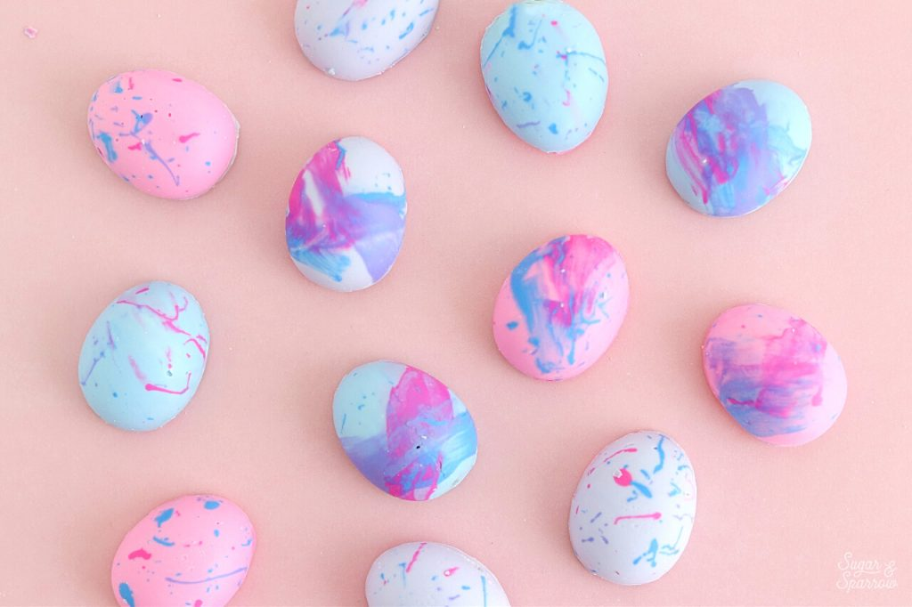 colorful chocolate easter eggs by sugar and sparrow