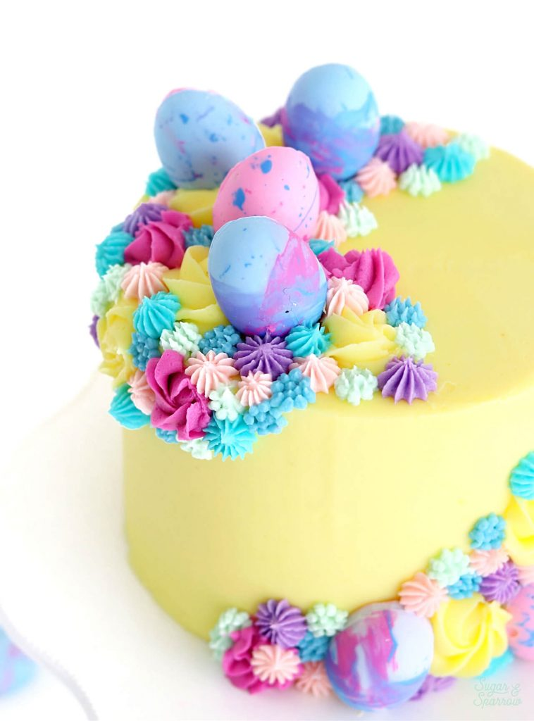 easter cake tutorial by sugar and sparrow
