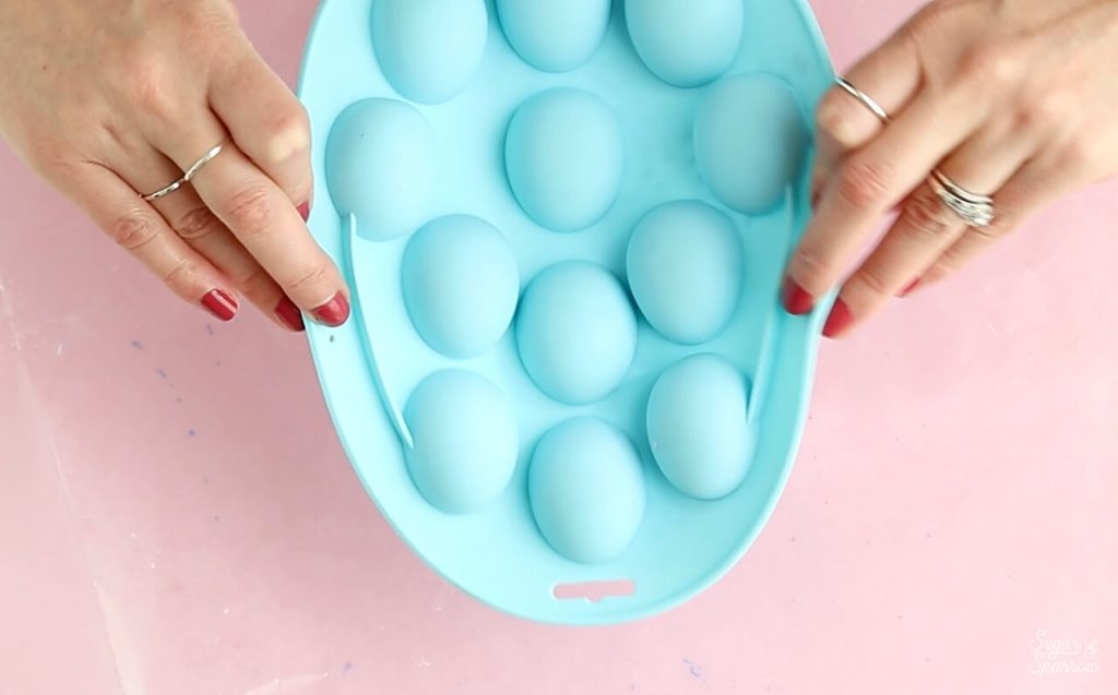 Easter egg silicone mold by wilton