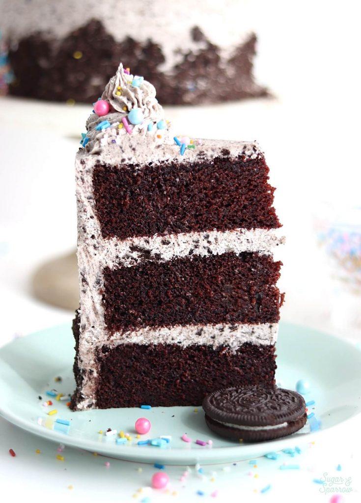 vegan chocolate cake recipe by sugar and sparrow