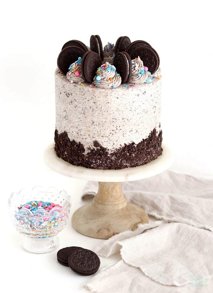 Stupendous Vegan Chocolate Cake With Oreo Buttercream Sugar Sparrow Funny Birthday Cards Online Overcheapnameinfo