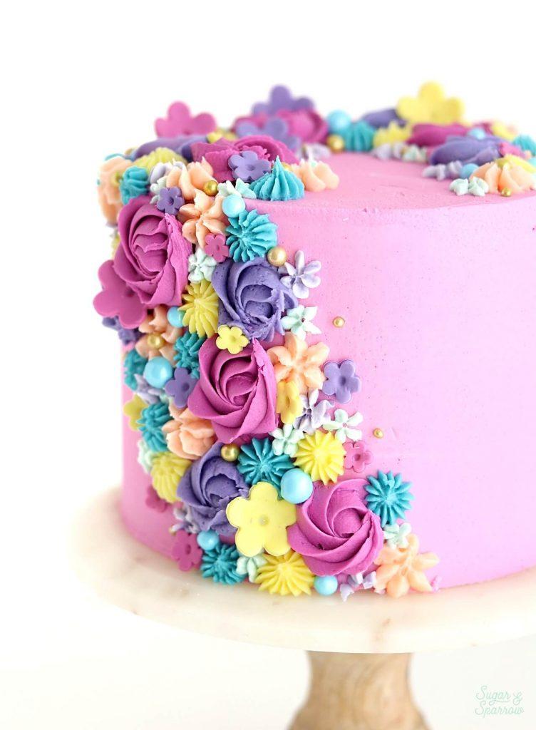 buttercream floral cake tutorial
