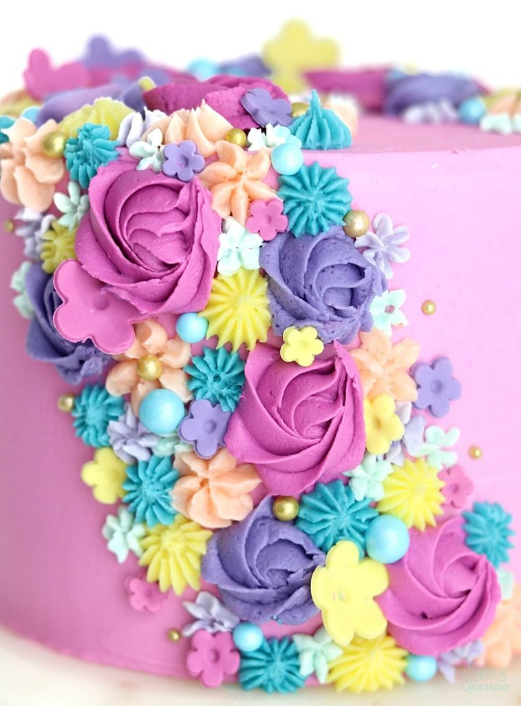 spring floral cake tutorial by sugar and sparrow
