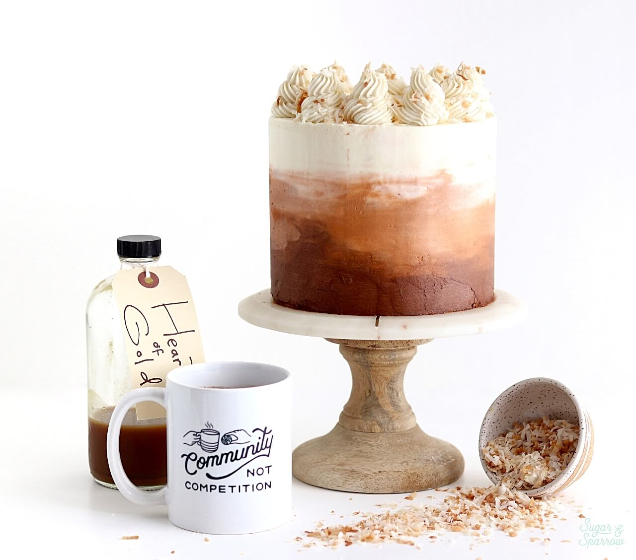 Coconut Chai Cake recipe by Sugar and Sparrow