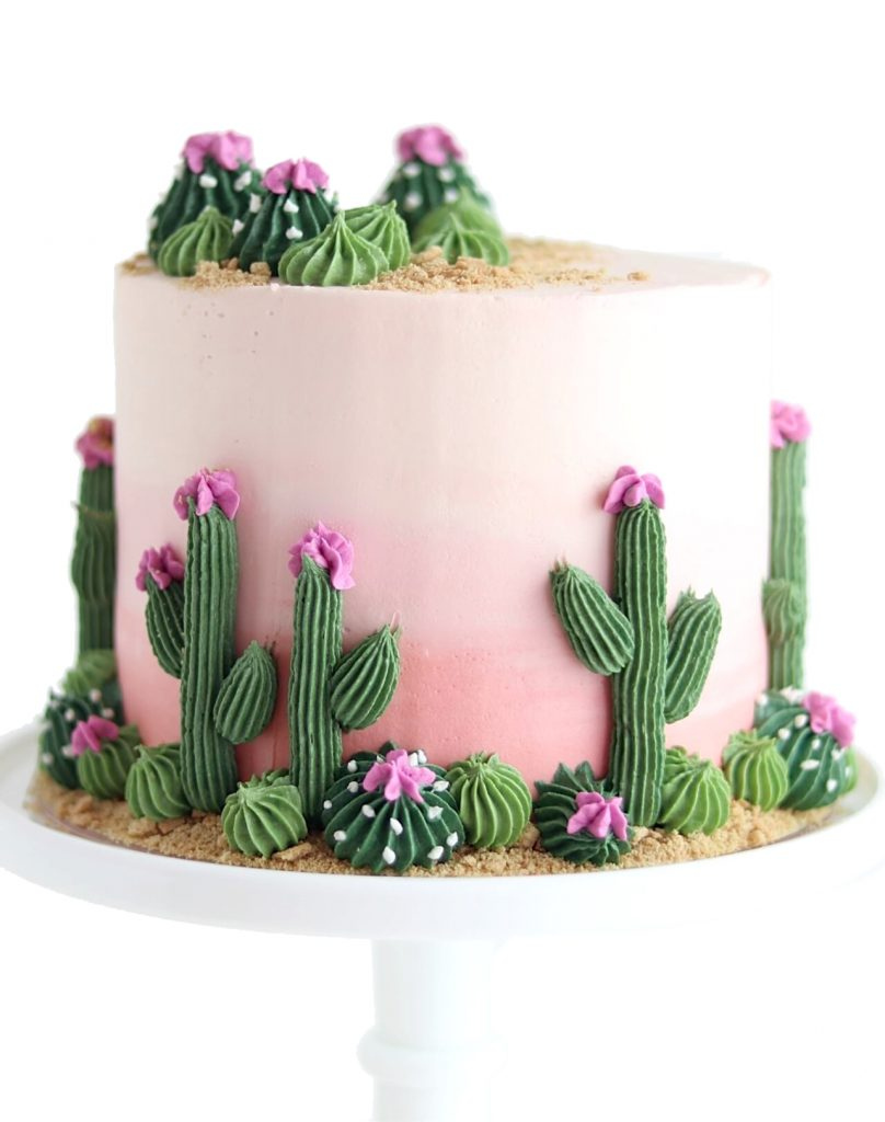 cactus cake tutorial by sugar and sparrow