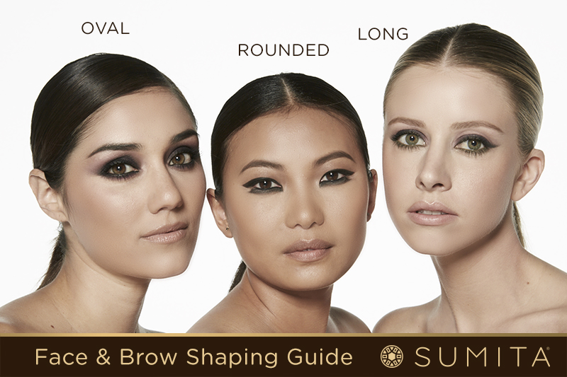 A Guide To Shaping Brow By Face Shape Sumita Cosmetics