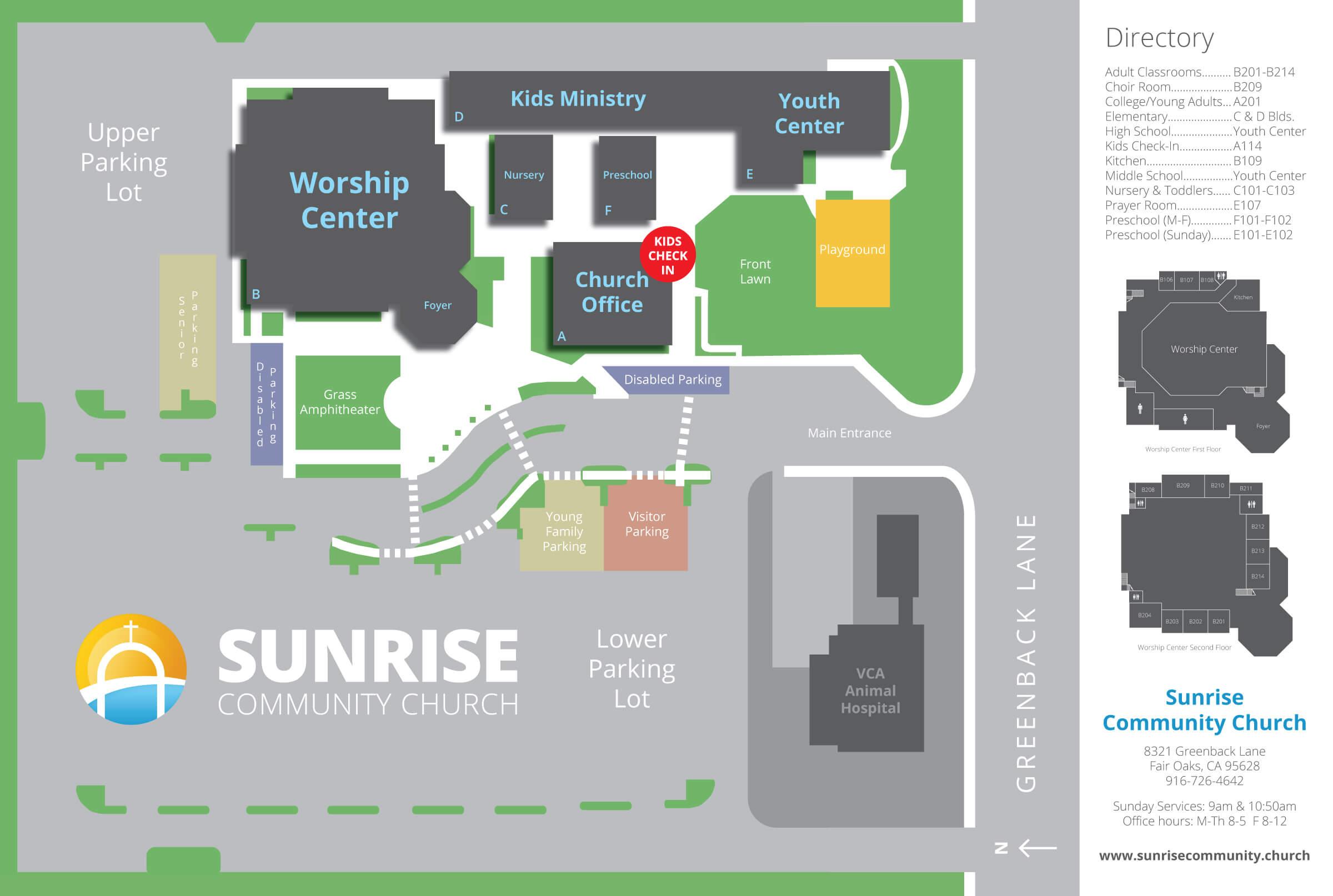 Sunrise-Campus-Map - Sunrise Community Church on