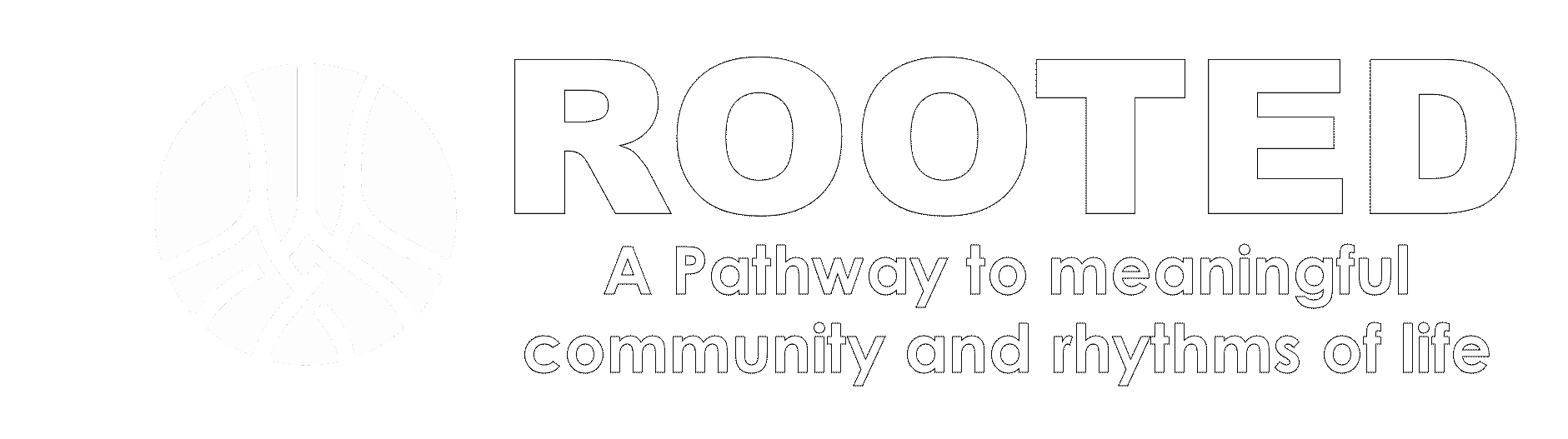 Rooted Logo with catchphrase(transparent)
