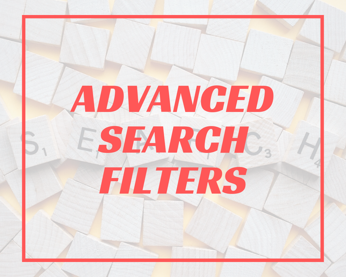 Advanced Search Filters