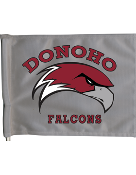 Donoho Falcons Car Flag