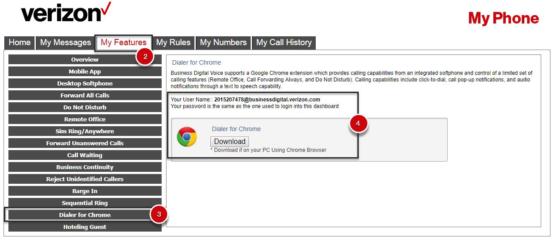 Dialer for Chrome | Verizon BDV Support