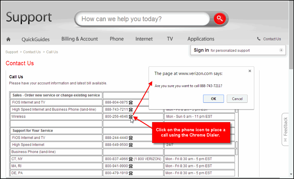 End User Portal Support – Dialer for Google Chrome Overview