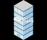 Building glass isometric