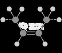 Butene cis beta butylene molecule