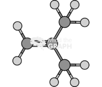 Butene isobutylene molecule