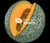 Cantaloupe melon cut