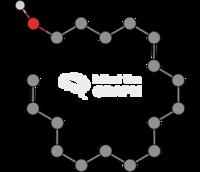 Cetyl alcohol molecule