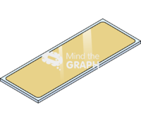 Gold glass slide perspective