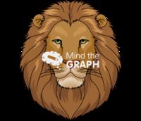 Lion face front