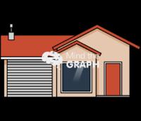 Medium house front